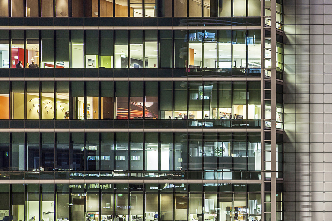 Architecture Photography, Commercial Photography, Blue Hour, Magic Hour, Office Building