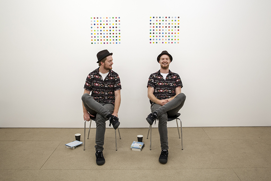 Hans George, twins, twin performer, living sculpture, art, urban art, modern art, contemporary art, art photography, 13 Rooms, 13Rooms, Kaldor Art Project, Pier 2/3, exhibition, sydney, australia