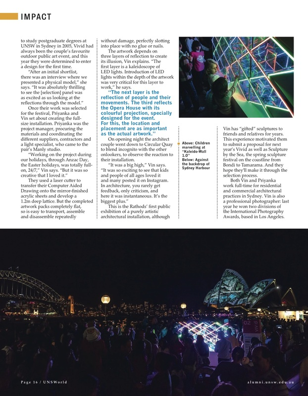 Kaleidowall, Vivid Sydney, 2014, Light installation, KW1.0, LEDs, Kaleidoscope, Kaleido, publication, art installation, public art, sydney, australia, circular quay, UNSWorld