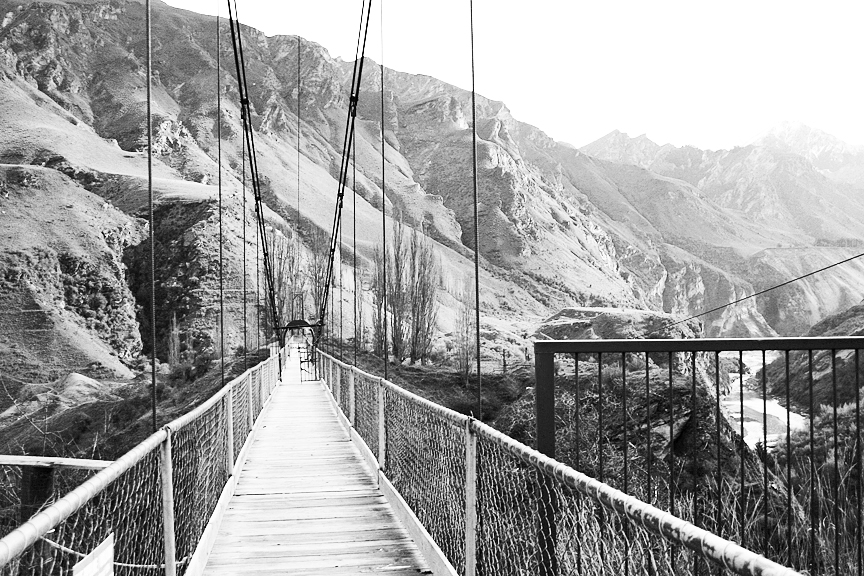 Bridge in Queenstown, South Island, New Zealand