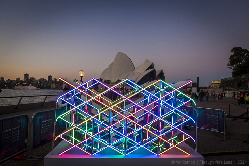 Art Installation Kaleidowall (Kaleido - Wall 1.0) at Vivid Sydney Light Festival